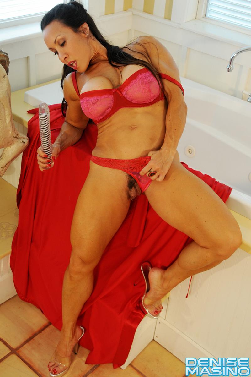 Dinise masino red bikini